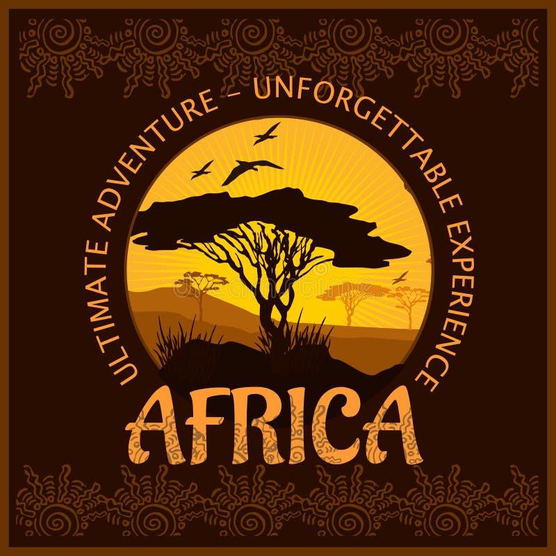Южная Африка - незабываемое отключение иллюстрация вектора
