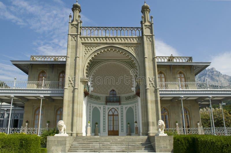 Южная веранда дворца Vorontsov стоковые фото
