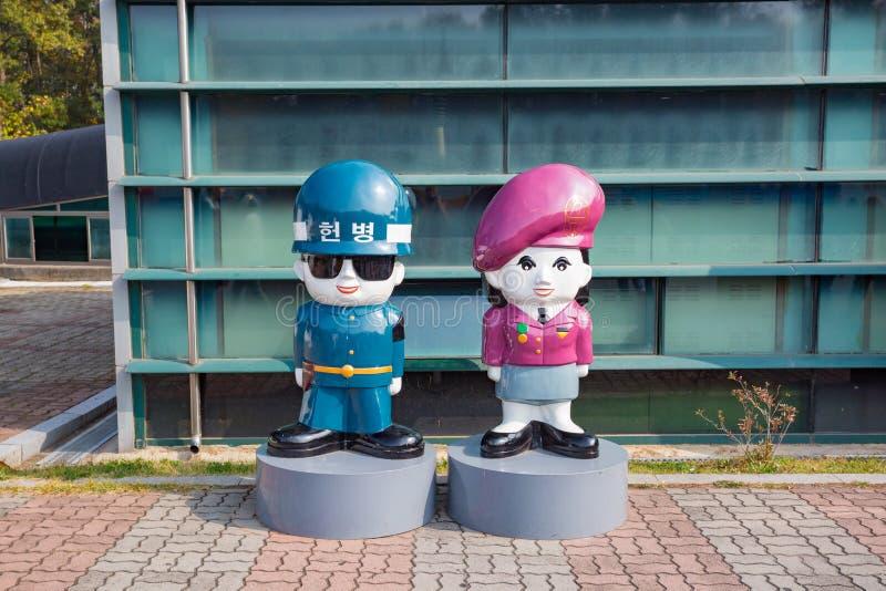 Южная Корея места тоннеля инфильтрата DMZ третьего стоковое изображение