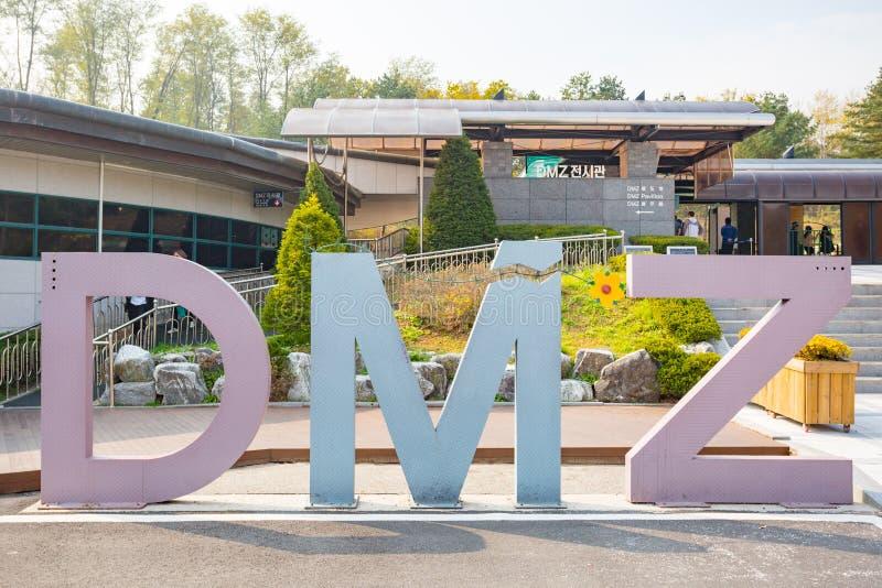 Южная Корея места тоннеля инфильтрата DMZ третьего стоковое изображение rf