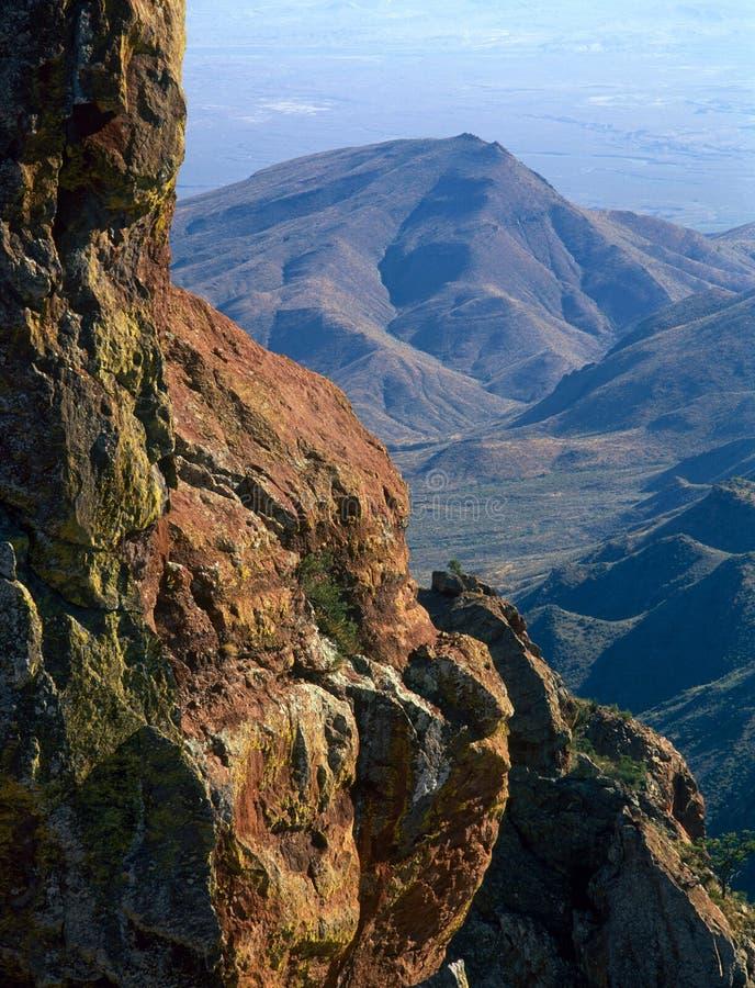 Южная оправа следа Chisos, большой национальный парк загиба, Техас стоковые фотографии rf