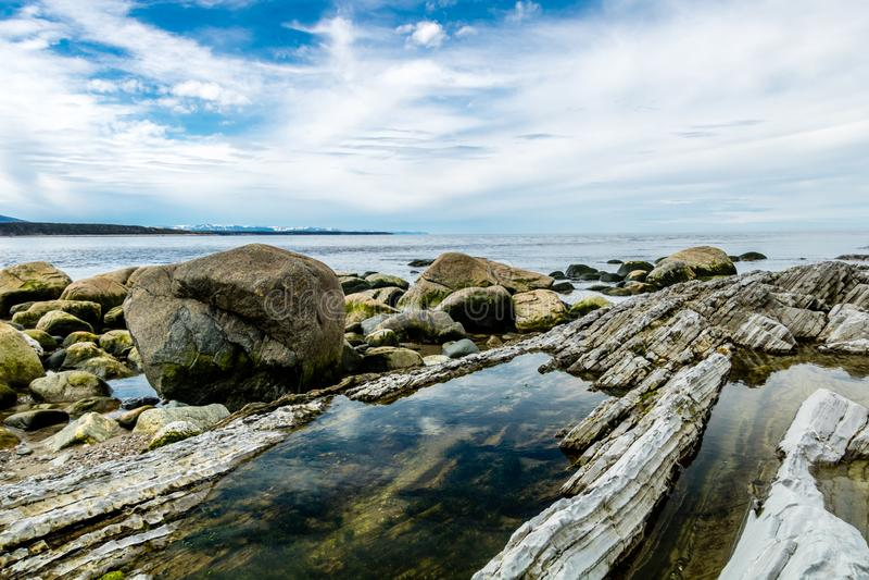 Южная сторона пункта веника, Gros, Morne, Ньюфаундленда, Канады стоковое фото rf