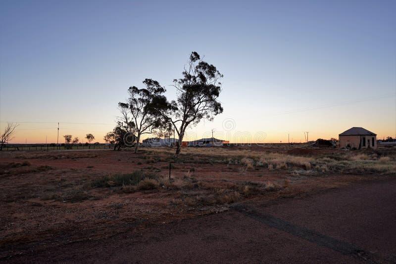Южное австралийское захолустье на сумраке стоковые фото