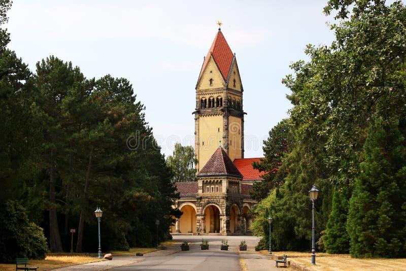 Южное кладбище в Лейпциге Германии стоковая фотография
