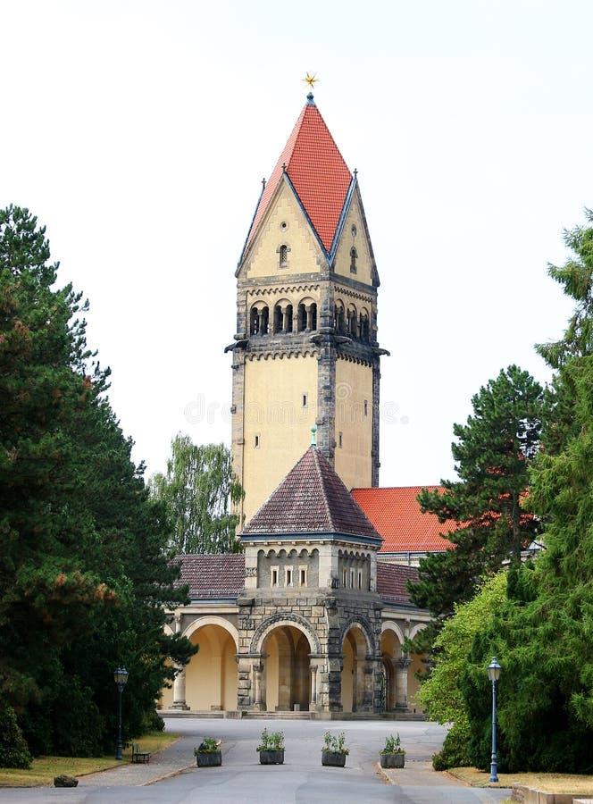 Южное кладбище в Лейпциге Германии стоковые фотографии rf