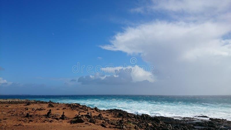 Южное море Лансароте стоковые изображения rf