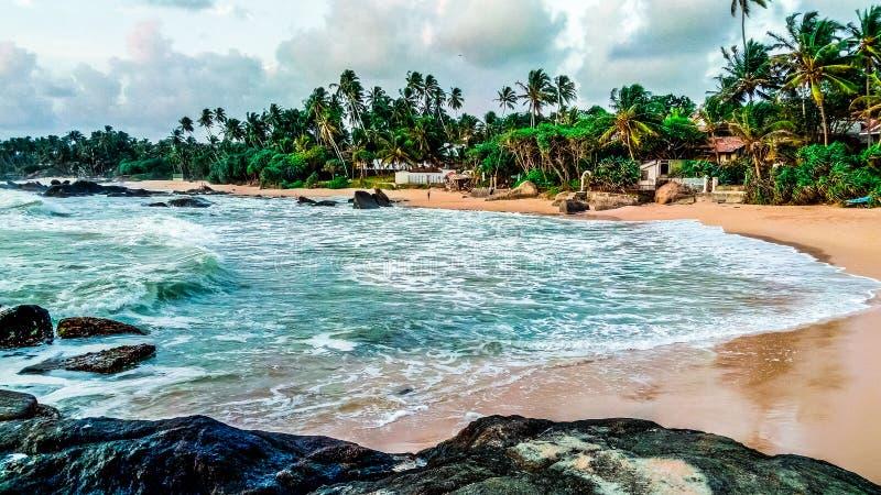 Южное побережье Шри-Ланка стоковые изображения