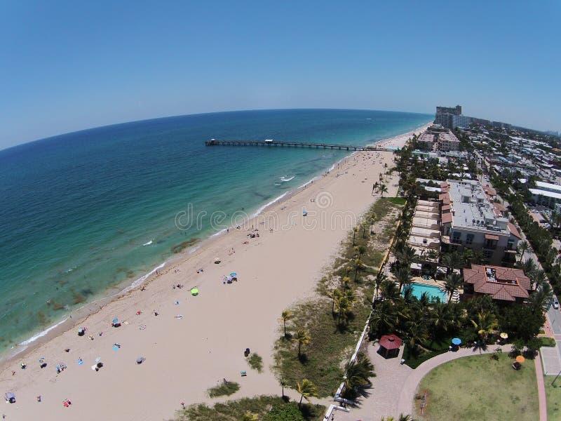 Южное voew Флориды воздушное пляжа стоковые фотографии rf