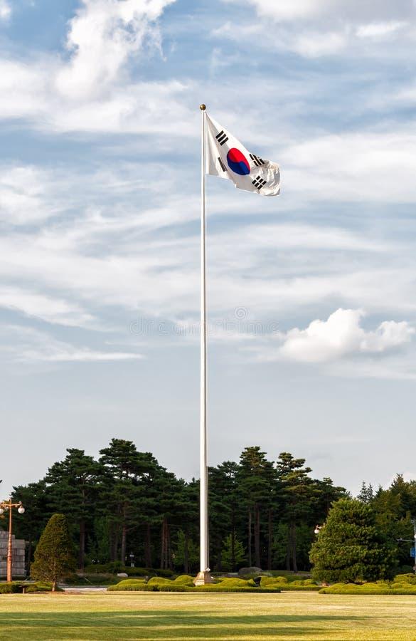 Южнокорейский флаг стоковое фото