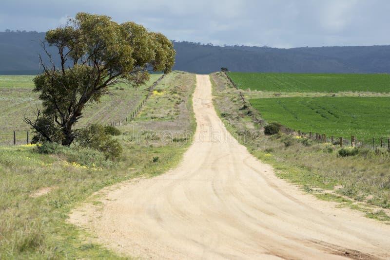 Южные австралийские грязные улицы страны, Murraylands стоковые фото