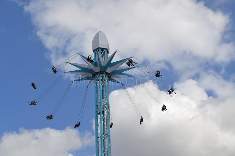 Южный берег Лондон езды Starflyer (Skyflyer) стоковое изображение