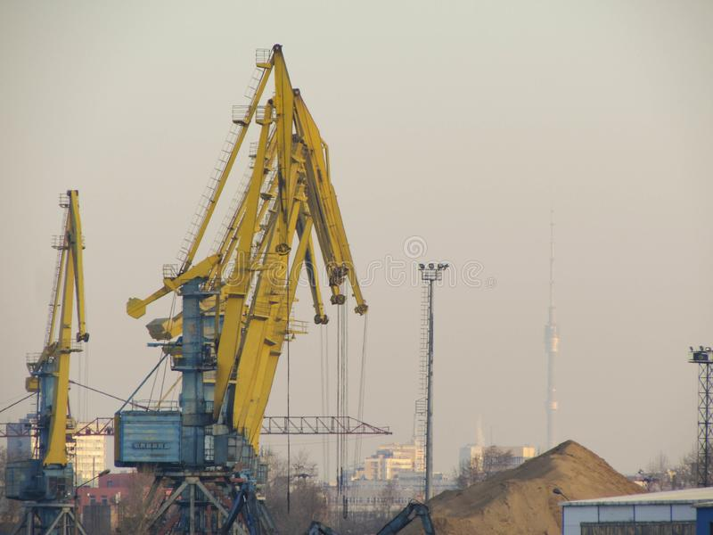 Южный порт в Москве стоковое фото