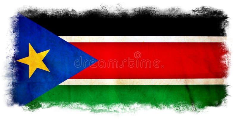 Южный флаг grunge Судана стоковая фотография