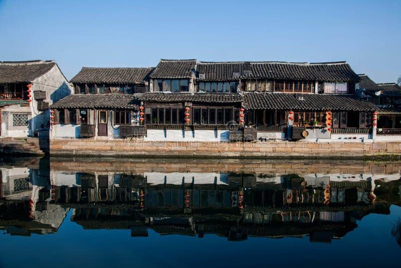 6 южных городков Xitang стоковые фотографии rf