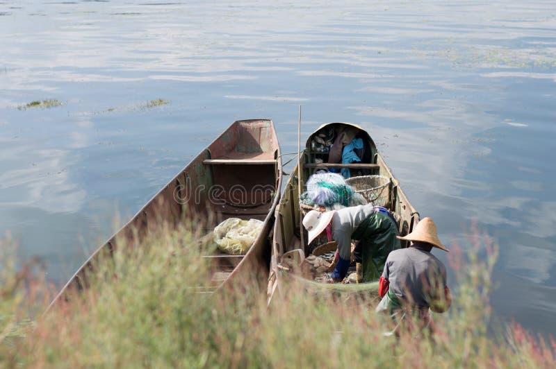 Юньнань, Китай Dali красивое Erhai стоковая фотография rf