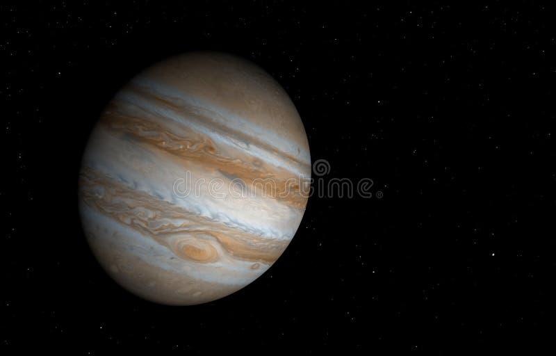 Юпитер - высокие изображения разрешения 3D иллюстрация вектора