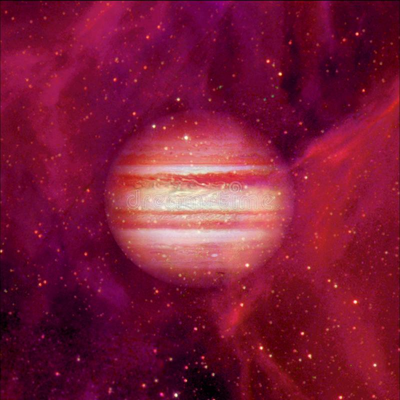 Юпитер в космическом пространстве r иллюстрация штока