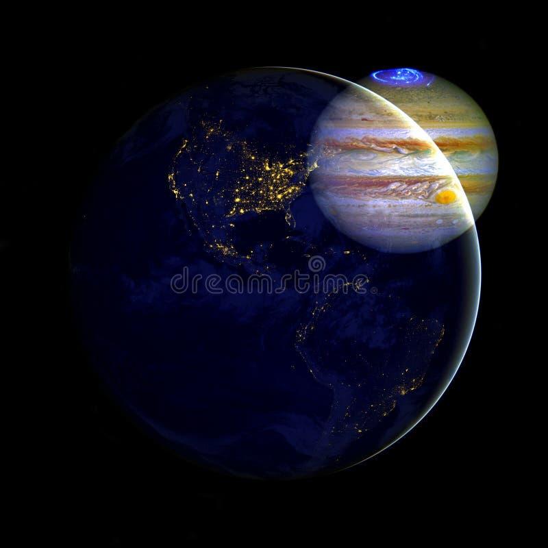 Юпитер в космическом пространстве r иллюстрация вектора