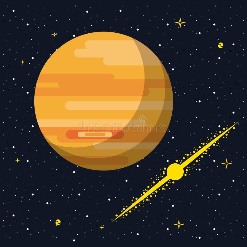 Юпитер в космосе иллюстрация штока
