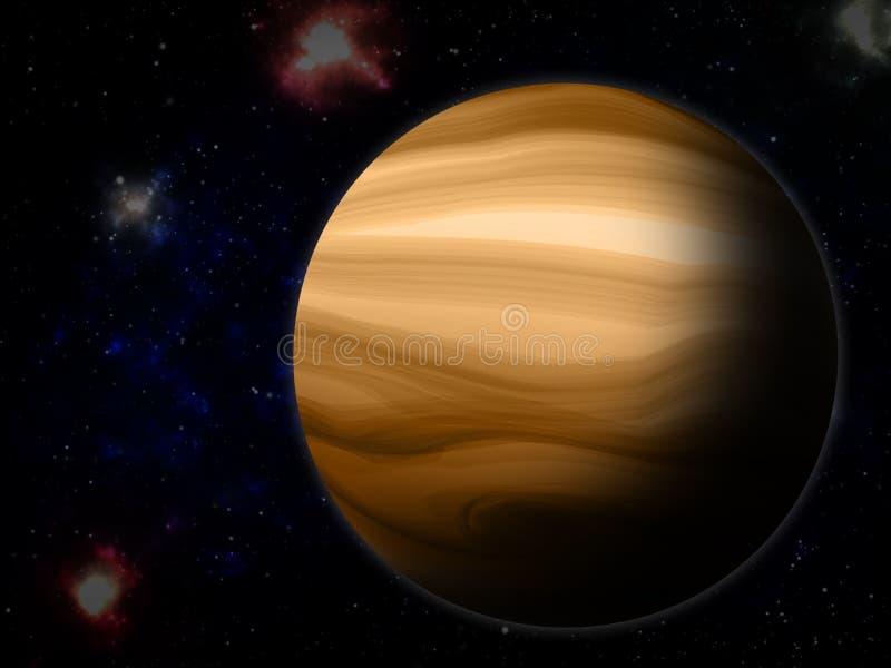 Юпитер от космоса иллюстрация штока