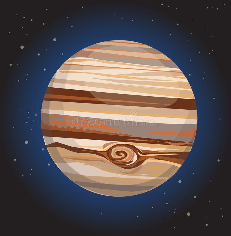 Юпитер иллюстрация вектора