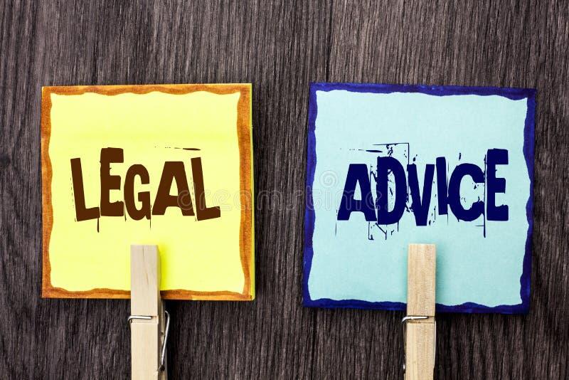 Юридический совет текста сочинительства слова Концепция дела для рекомендаций, который дал юристом или специалистом консультанта  стоковое фото rf