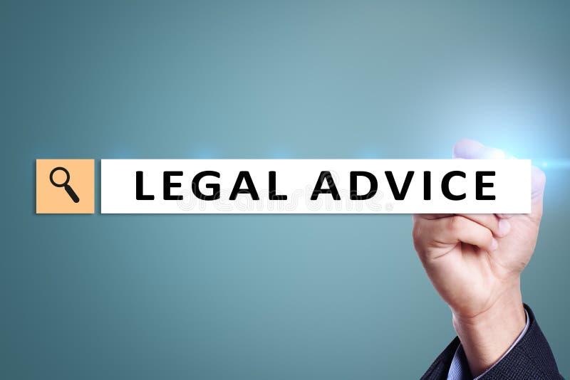 Юридический совет ext на виртуальном экране consulting Поверенный в суде юрист, концепция дела и финансов стоковое фото rf