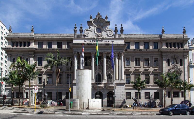 Юридическое высшее учебное заведение Сан-Паулу Бразилия стоковые изображения rf