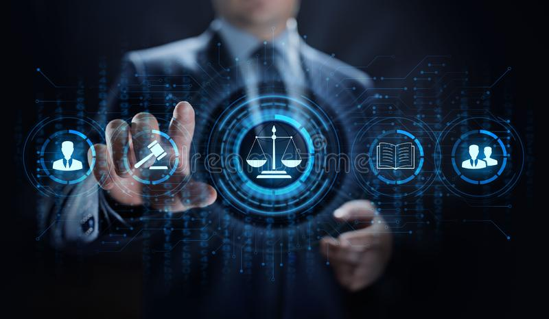 Юрист совета дела поверенного в суде законный Трудовое соответствие стоковые фото