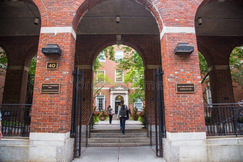 Юридическое высшее учебное заведение NYU стоковые изображения rf