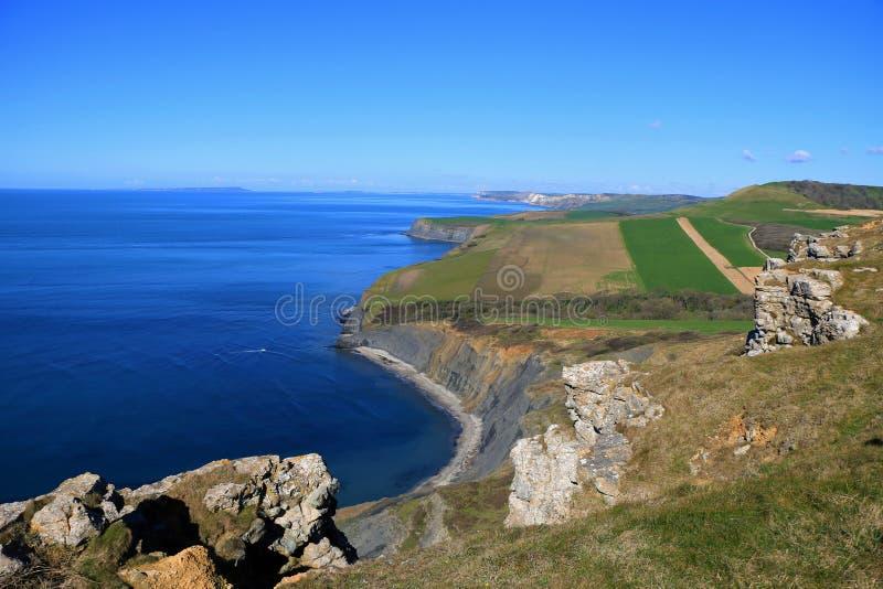 Юрская береговая линия, Дорсет, Великобритания стоковая фотография rf