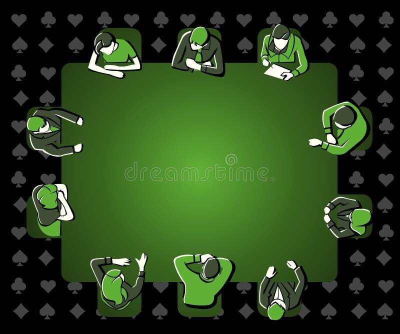 люди играя покер иллюстрация вектора