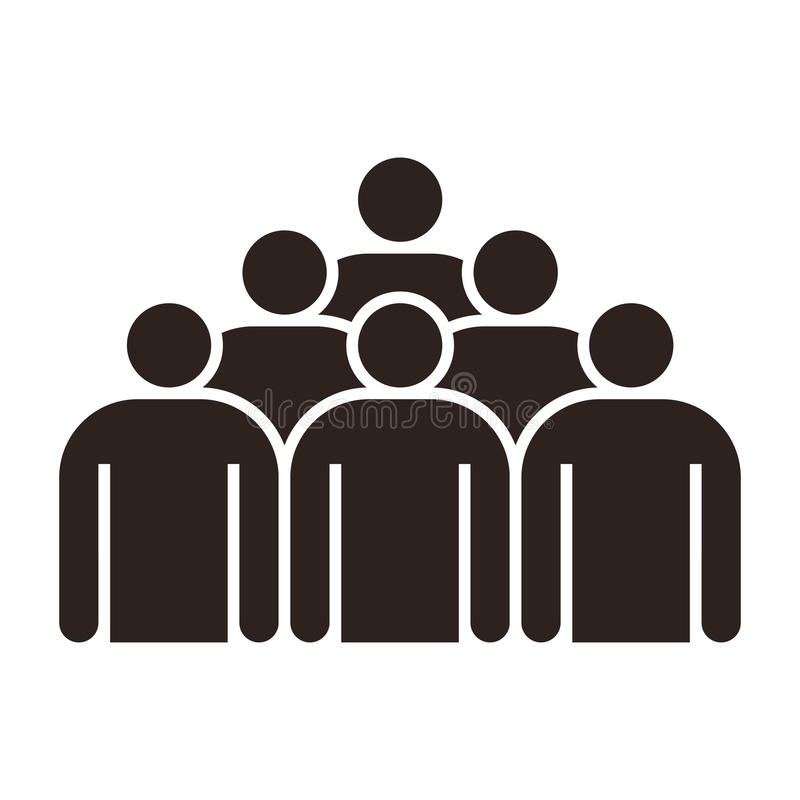 люди иконы группы иллюстрация вектора