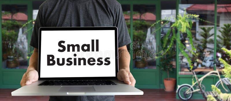 люди концепции мелкого бизнеса работая Startup кафе Owne дела стоковое изображение rf