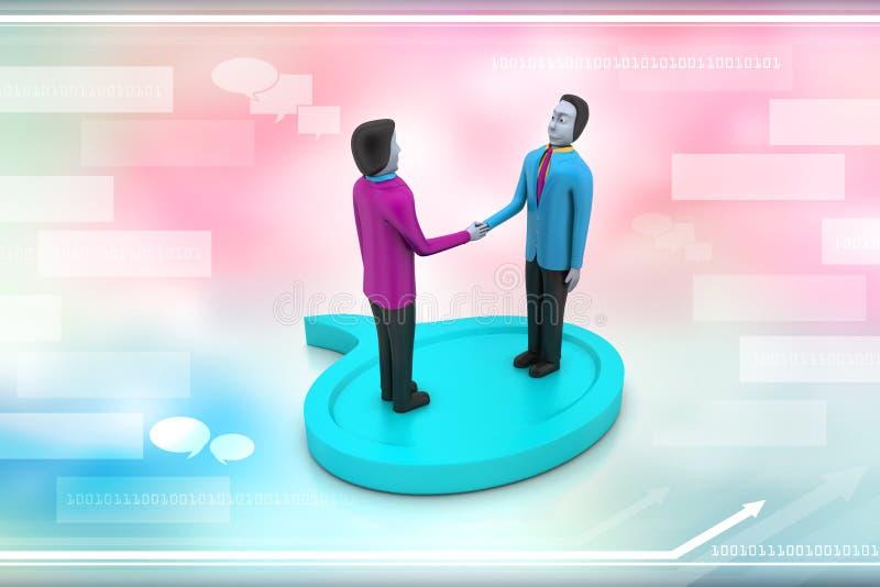 люди 3d с беседуя пузырем бесплатная иллюстрация