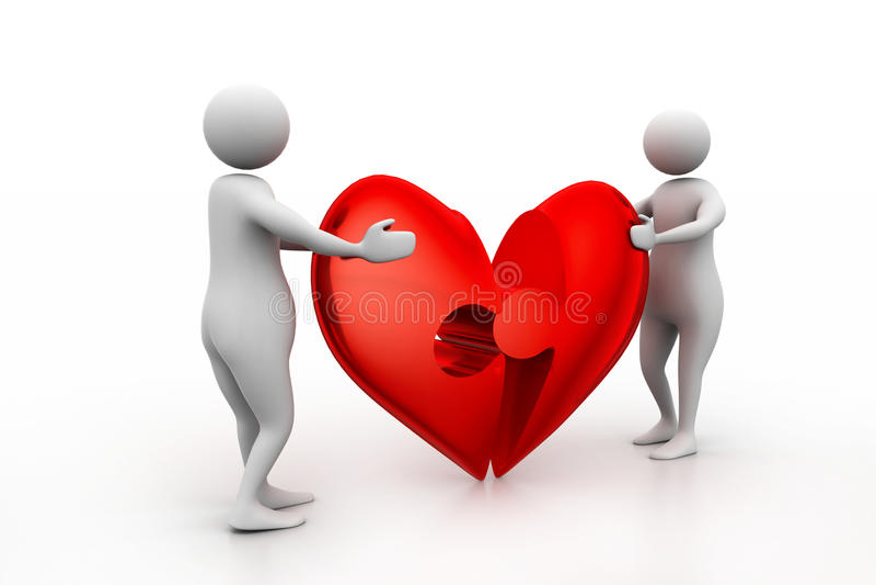 2 люд с разбитым сердцем бесплатная иллюстрация