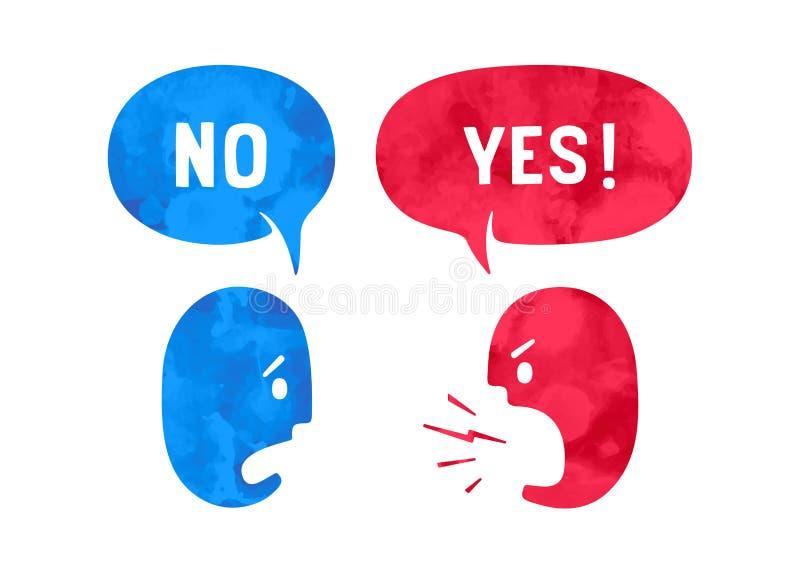 2 люд с различными формами заволакивают беседа для тем скидки бесплатная иллюстрация