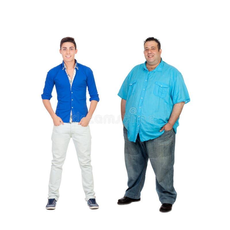 2 люд с различным цветом лица стоковое изображение