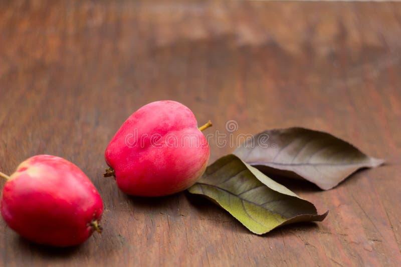 Яблоки свежего красного сока зрелые закрывают вверх стоковое фото