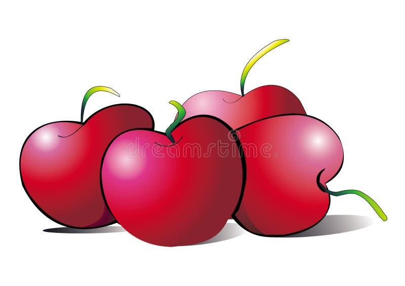 яблоки иллюстрация вектора