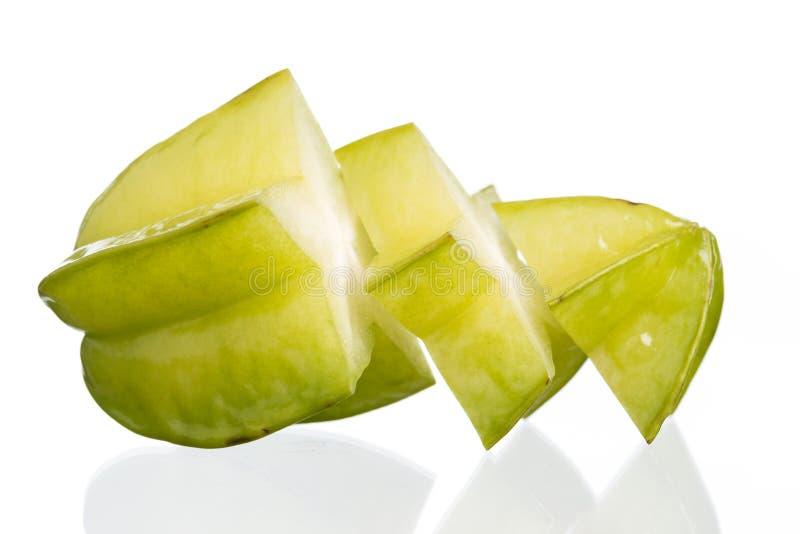 Яблоко звезды на белой предпосылке стоковое фото