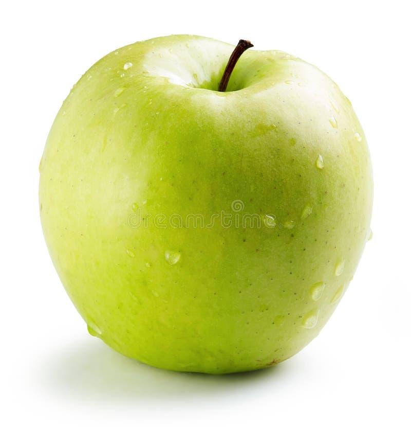 яблоко - зеленое намочите стоковое фото