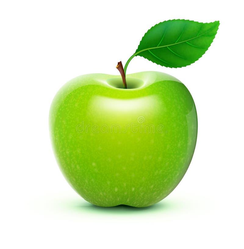 яблоко - зеленый цвет иллюстрация штока
