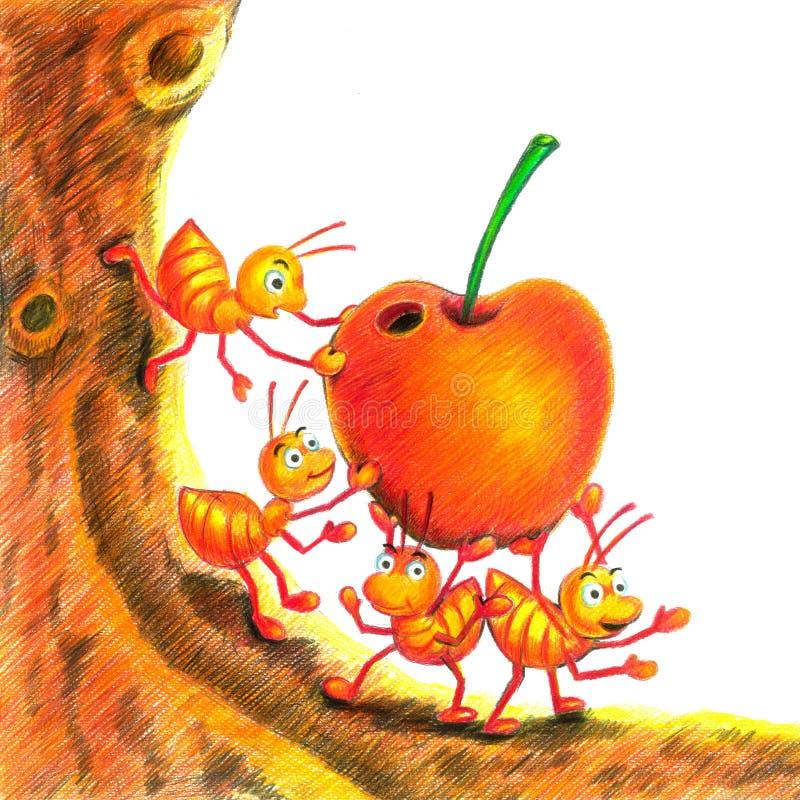 яблоко муравея иллюстрация штока