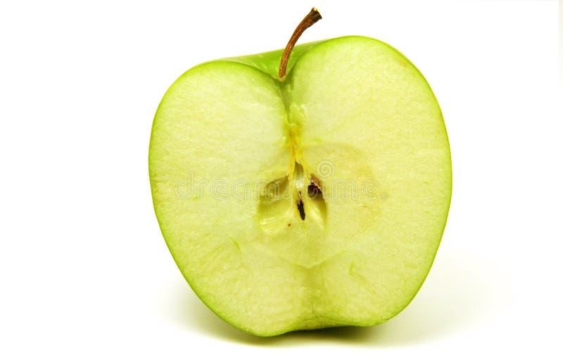 яблоко половинное стоковые изображения