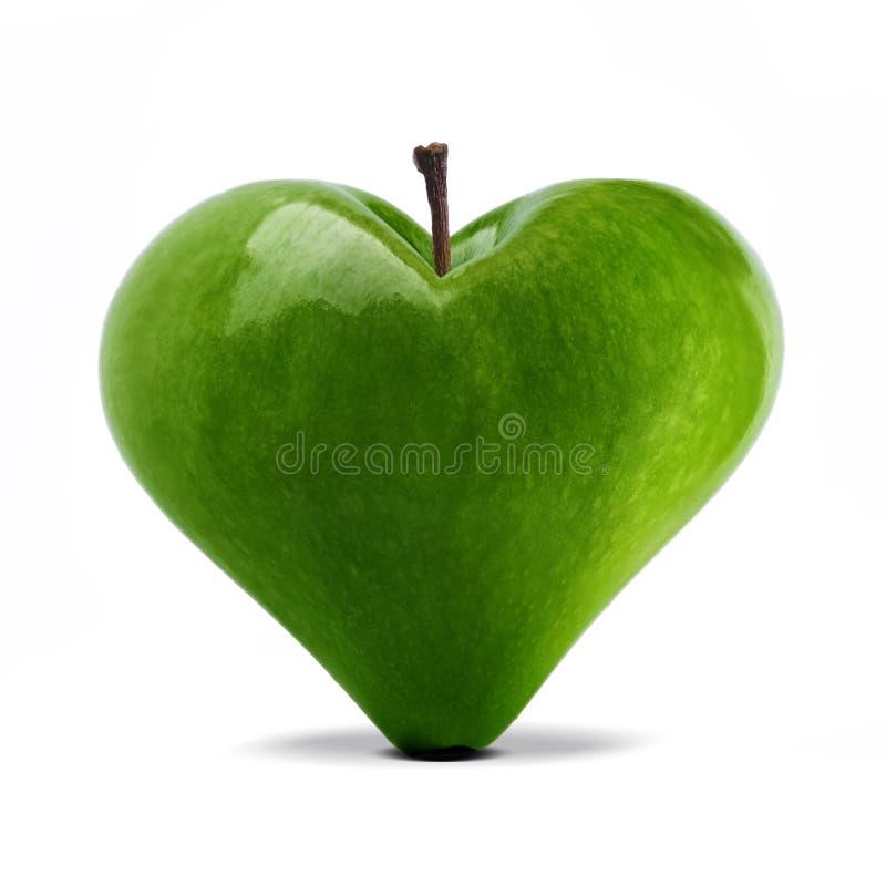 Яблоко сердца стоковые изображения rf