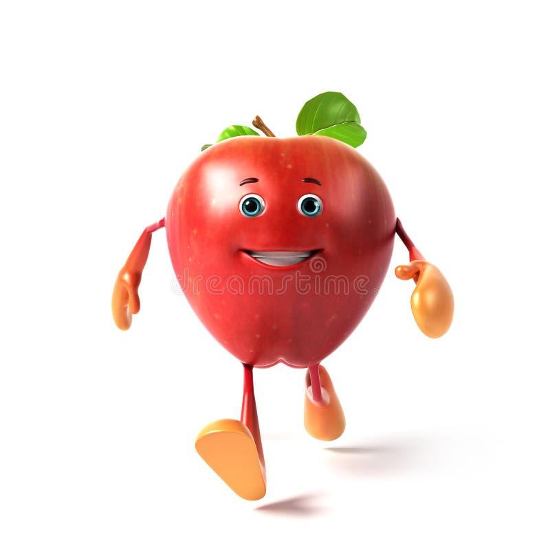 яблоко смешное иллюстрация штока