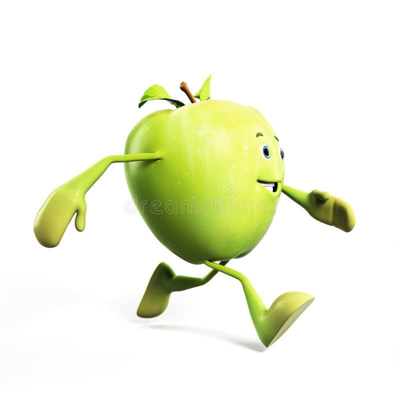 яблоко смешное бесплатная иллюстрация
