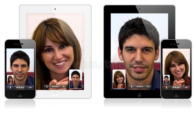яблоко 2 4 вызывая iphone ipad новым видео стоковые изображения