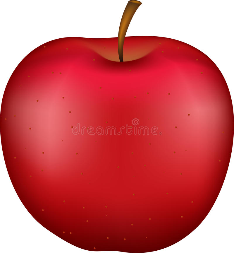 яблоко 3d иллюстрация штока